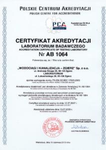 certyfikat akredytacji laboratorium